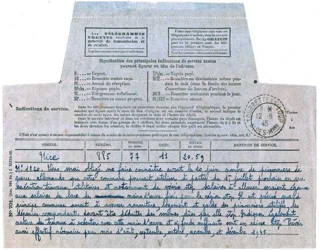 1945-telegramme